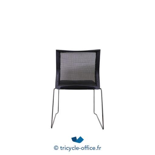 Tricycle Office Mobilier Bureau Occasion Chaise Visiteur Noir Traineaux (2)