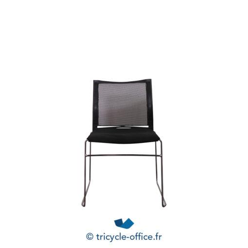 Tricycle Office Mobilier Bureau Occasion Chaise Visiteur Noir Traineaux (3)