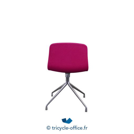 Tricycle Office Mobilier Bureau Occasion Chaise Visiteur Rose (2)