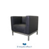 Tricycle Office Mobilier Bureau Occasion Chauffeuse Noir Cuir (2)