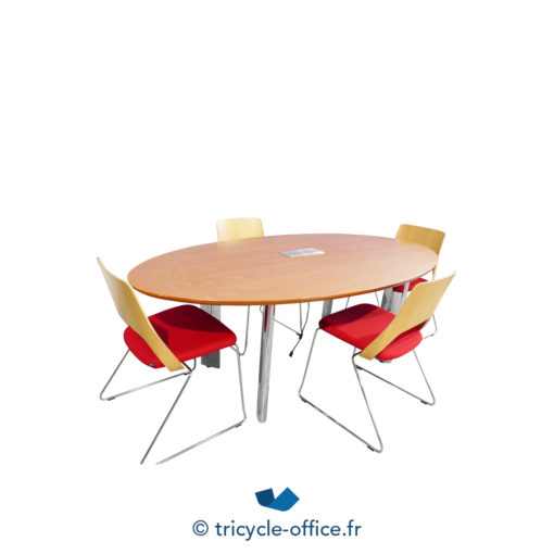 Tricycle Office Mobilier Bureau Occasion Table De Réunion Ovale 4 Personnes (2)