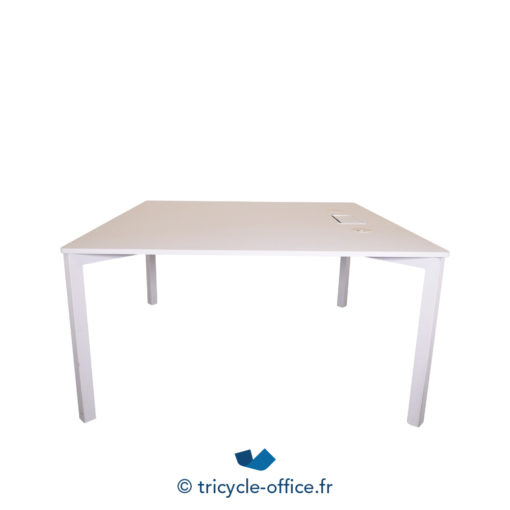 Tricycle Office Mobilier Bureau Occasion Table Reunion Blanche (1)