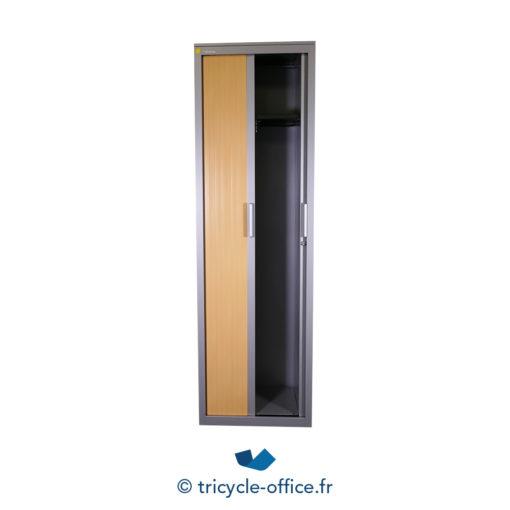 Tricycle Office Mobilier Bureau Occasion Vestiaire Bois 2 Portes Steelcase (2)