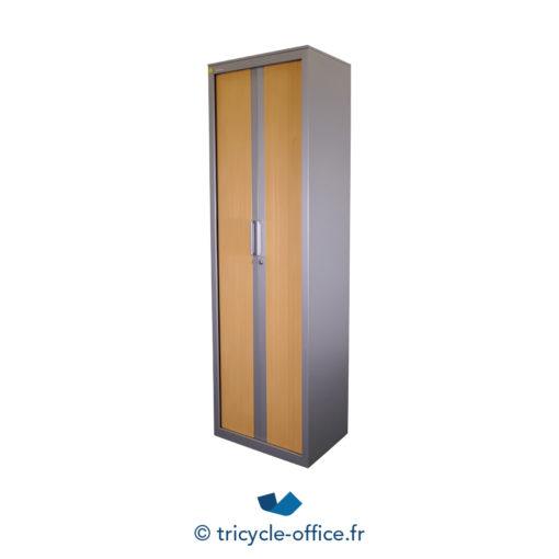 Tricycle Office Mobilier Bureau Occasion Vestiaire Bois 2 Portes Steelcase (3)