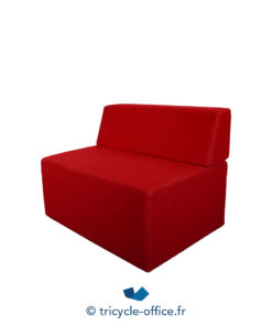 Tricycle Office Mobilier Bureau Occasion Chauffeuse Confortable Rouge (3)