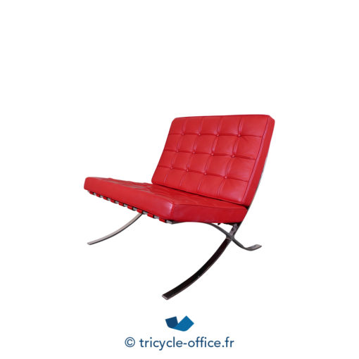 Tricycle Office Mobilier Bureau Occasion Chauffeuse Rouge Type Barcelona (3)