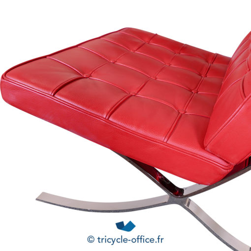 Tricycle Office Mobilier Bureau Occasion Chauffeuse Rouge Type Barcelona (4)