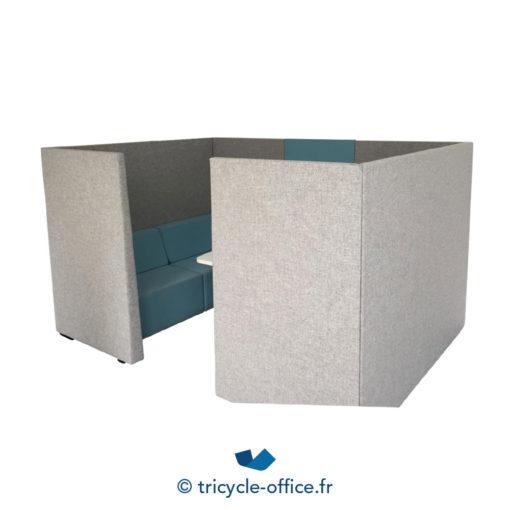 Tricycle Office Mobilier Bureau Occasion Canape Phonique Gris Bleu (8)
