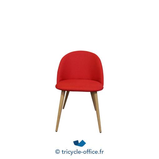 Tricycle Office Mobilier Bureau Occasion Chaise Visiteur Confortable Rouge (5)