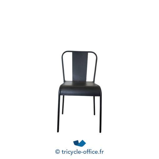 Tricycle Office Mobilier Bureau Occasion Chaise Visiteur Factory Métal Noir (2)