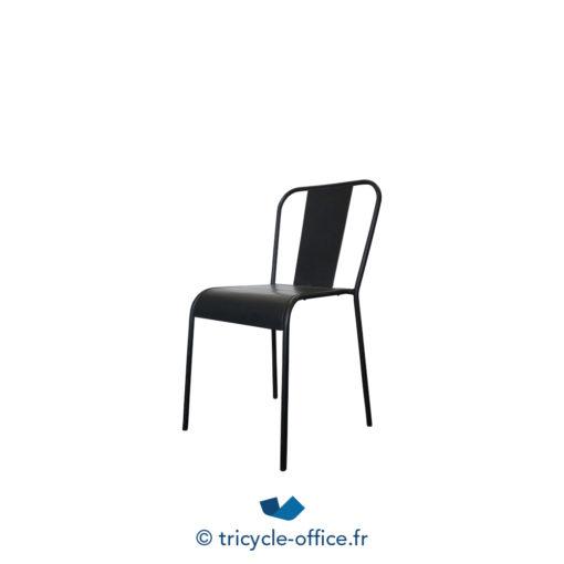 Tricycle Office Mobilier Bureau Occasion Chaise Visiteur Factory Métal Noir (3)