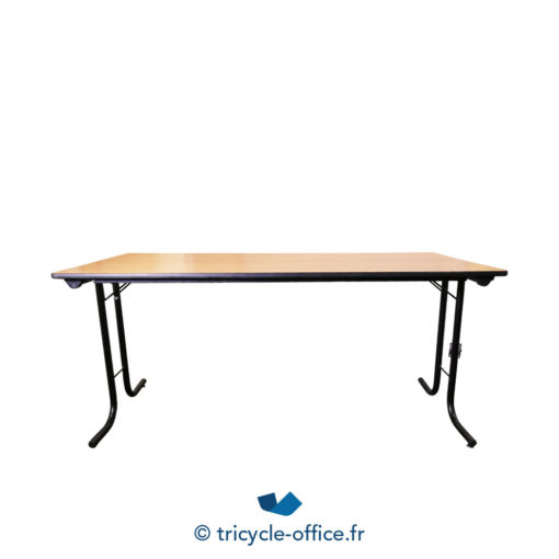 Tricycle Office Mobilier Bureau Occasion Table Pliante Bois Clair (2)