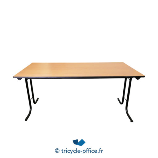 Tricycle Office Mobilier Bureau Occasion Table Pliante Bois Clair (3)