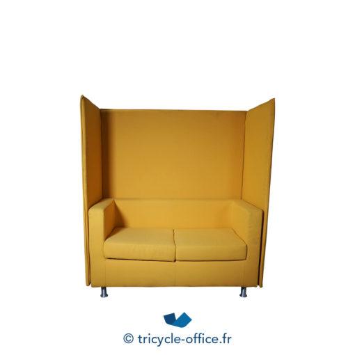 Tricycle Office Mobilier Bureau Occasion Canape Phonique 2 Places Jaune (1)