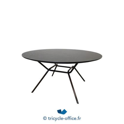 ART1257 Table Basse Noir Piètement Design (1) Copie