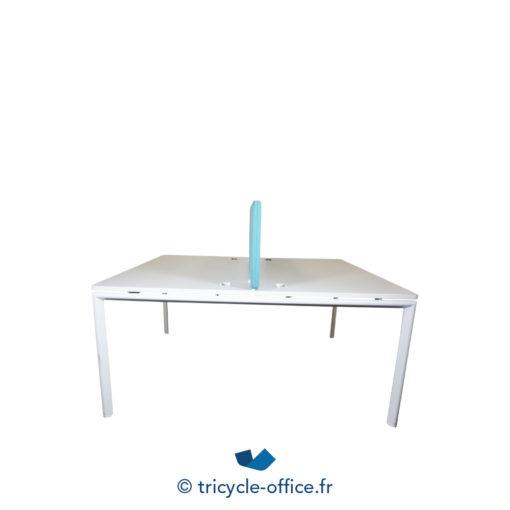 Tricycle Office Mobilier Bureau Occasion Bench De 2 Separateur Bleu (1)