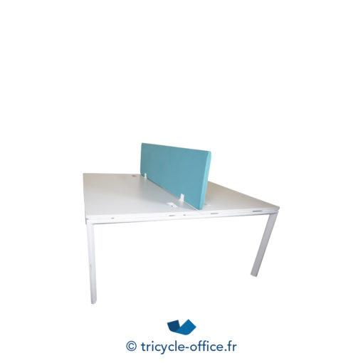 Tricycle Office Mobilier Bureau Occasion Bench De 2 Separateur Bleu (2)