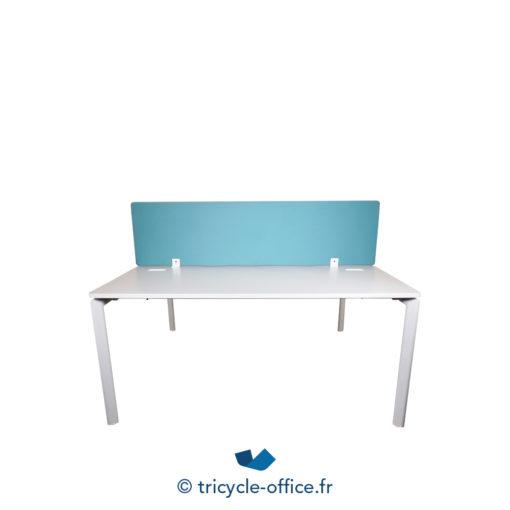 Tricycle Office Mobilier Bureau Occasion Bench De 2 Separateur Bleu