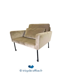 Tricycle Office Mobilier Bureau Occasion Chauffeuse Velours Taupe (2)
