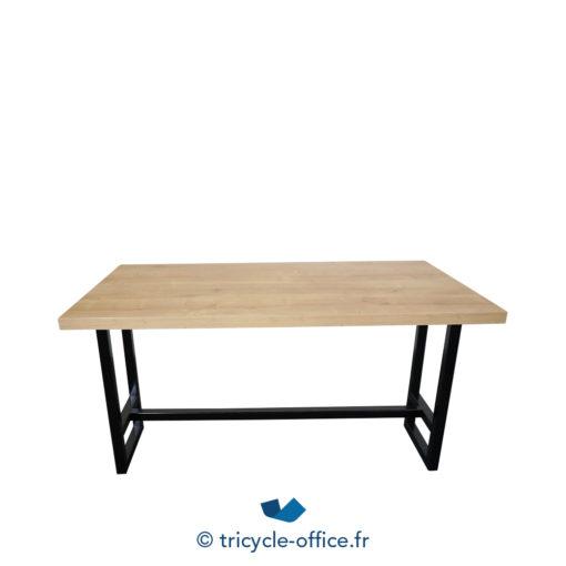 Tricycle Office Mobilier Bureau Occasion Table De Restauration Bois Et Noir (3)