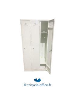 Tricycle Office Mobilier Bureau Occasion Vestiaire 3 Portes Blanc (1)