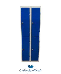 Tricycle Office Mobilier Bureau Occasion Vestiaire 4 Portes Metallique Bleu (3) Copie