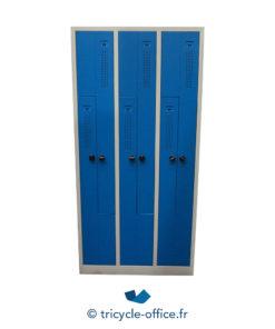 Tricycle Office Mobilier Bureau Occasion Vestiaire 6 Portes Metallique Bleu (4)