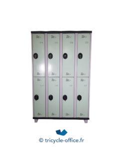 Tricycle Office Mobilier Bureau Occasion Vestiaire Vert 8 Portes (1)