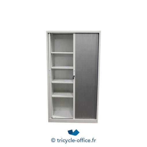 Tricycle Office Mobilier Bureau Occasion Armoire Haute Grise Blanche (3)