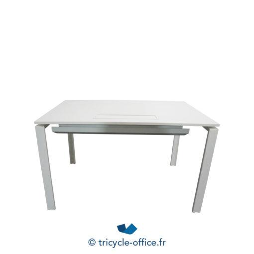 Tricycle Office Mobilier Bureau Occasion Bureau Droit Blanc 120 Cm (2)