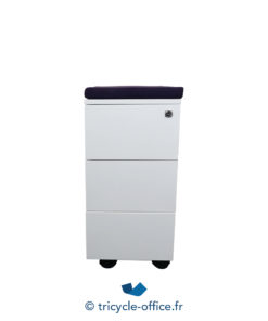 Tricycle Office Mobilier Bureau Occasion Caissons 3 Tiroirs Top Colore Violet Occasion (2)