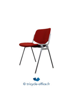 Tricycle Office Mobilier Bureau Occasion Chaise Visiteur Empilable Rouge (2)