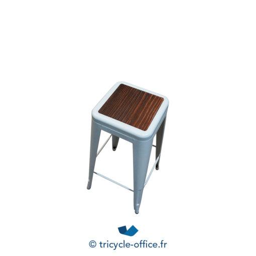 Tricycle Office Mobilier Bureau Occasion Tabouret Haut Blanc Type Tolix (3)