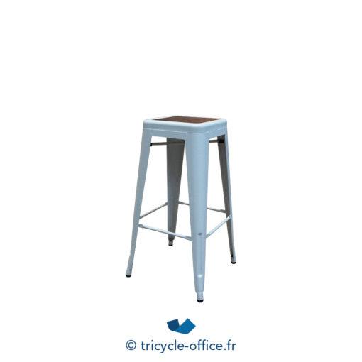 Tricycle Office Mobilier Bureau Occasion Tabouret Haut Blanc Type Tolix (4)