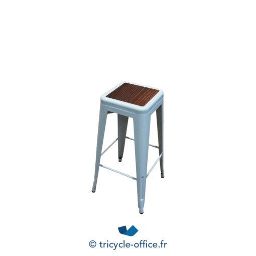 Tricycle Office Mobilier Bureau Occasion Tabouret Haut Blanc Type Tolix (5)
