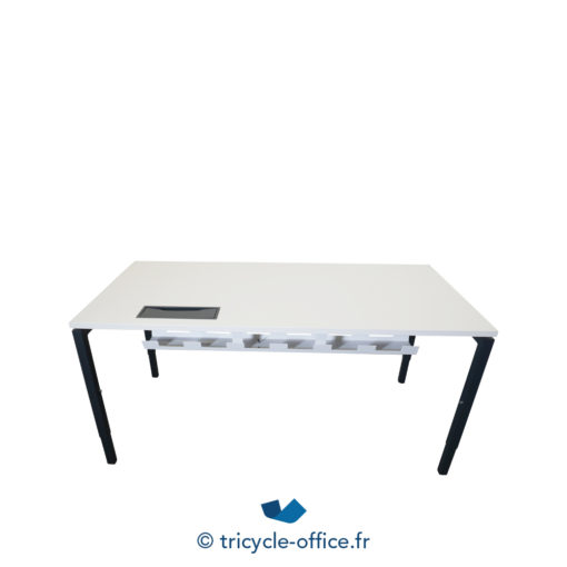 Tricycle Office Mobilier Bureau Occasion Bureau Droit Blanc Et Anthracite (