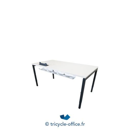 Tricycle Office Mobilier Bureau Occasion Bureau Droit Blanc Et Anthracite (2)