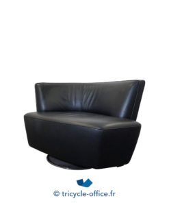 Tricycle Office Mobilier Bureau Occasion Canape Angle 1 Place Noir Knoll (5)