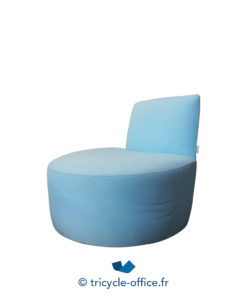 Tricycle Office Mobilier Bureau Occasion Chauffeuse Bleu Ciel Tacchini (3)
